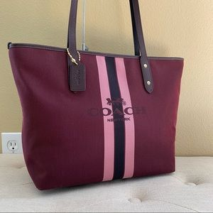 COACH City Horse and Carriage Zip Top Tote Bag
